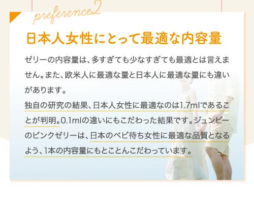 日本人女性にとって最適な内容量