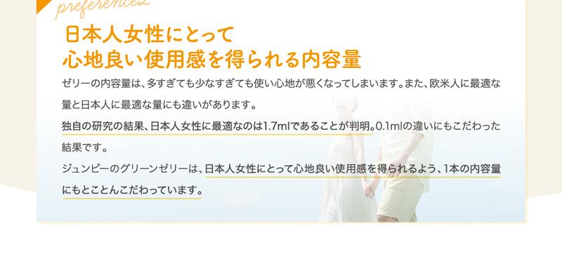 日本人女性にとって心地良い使用感を得られる内容量